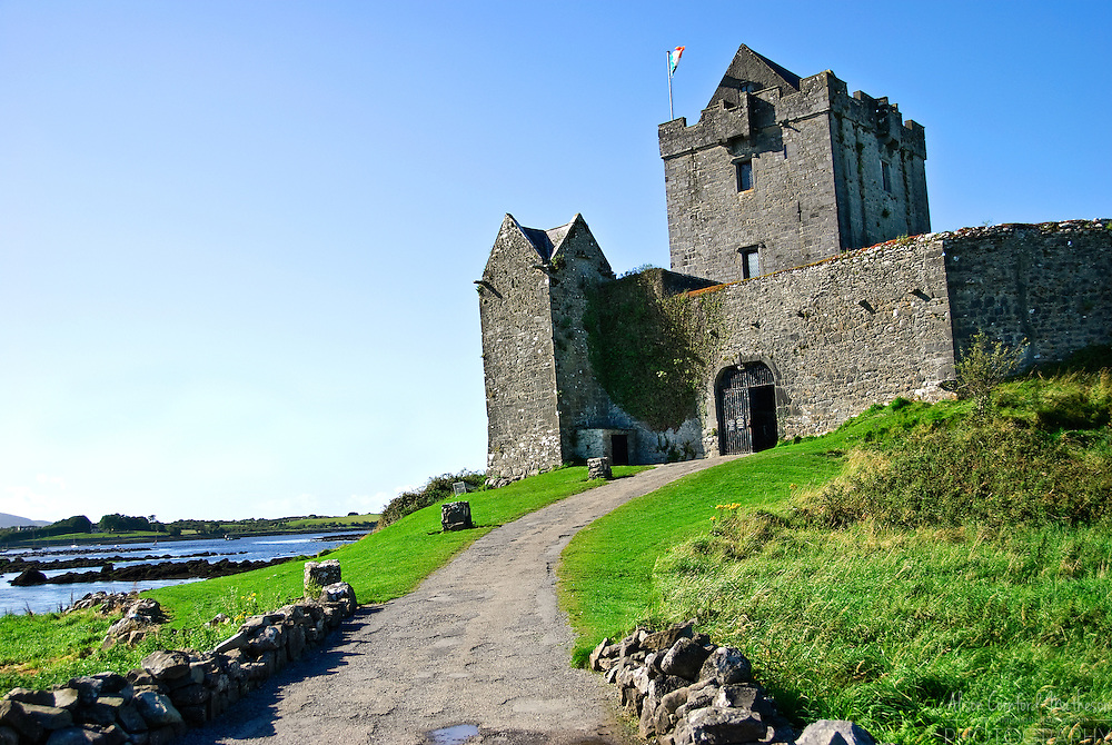 Dunguaire Castle is on the southeastern shore of Galway Bay in County Galway, Ireland, near Kinvarra.