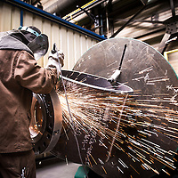 Nivelles, Belgium 30 April 2014<br /> TD Williamson welding workshop.<br /> Photo: Ezequiel Scagnetti
