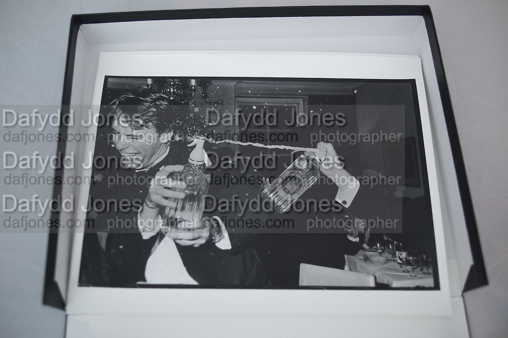 Clive Cooke at a party organised by Oliver Baxter. 149 Grosvenor St. London. 13 November 11981.