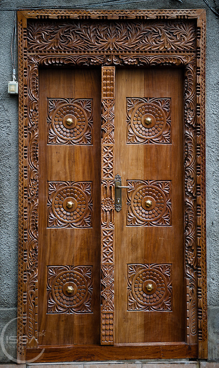 Classic wooden door from Zanzibar