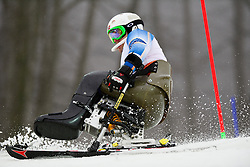 Thomas JACOBSEN competing in the Alpine Skiing Super Combined Slalom at the 2014 Sochi Winter Paralympic Games, Russia