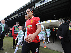 Manchester United's Radamel Falcao Garcia  - Photo mandatory by-line: Joe meredith/JMP - Mobile: 07966 386802 - 04/01/2015 - SPORT - football - Yeovil - Huish Park - Yeovil Town v Manchester United - FA Cup - Third Round