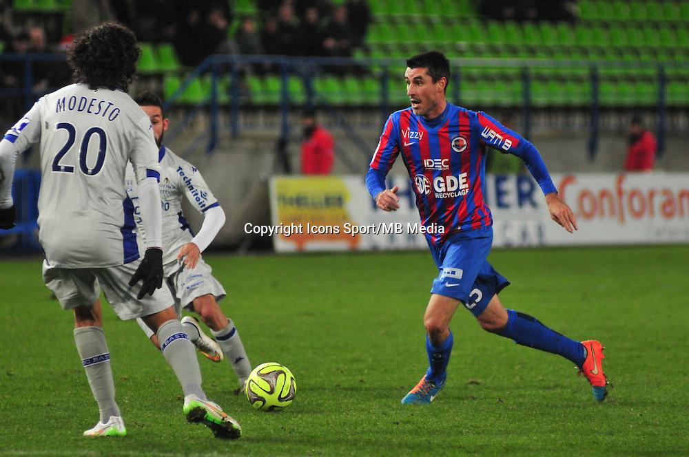 Julien Feret - 20.12.2014 - Caen / Bastia - 17eme journee de Ligue 1 -<br />Photo : Philippe Le Brech / Icon Sport