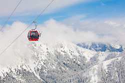 North America, United States, Washington, Mt. Rainier Gondola at Crystal Mountain Ski Resort
