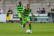 Forest Green Rovers Callum Evans(18) on the ball during the Pre-Season Friendly match between Weston Super Mare and Forest Green Rovers at the Woodspring Stadium, Weston Super Mare, United Kingdom on 18 July 2017. Photo by Shane Healey.