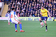 Oxford United Defender Joe Skarz  during the The FA Cup Fourth Round match between Oxford United and Blackburn Rovers at the Kassam Stadium, Oxford, England on 30 January 2016. Photo by Dennis Goodwin.