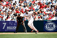 May 5, 2007: Vladimir Guerrero of the Angels leaves first base during the Chicago White Sox as they played the Los Angeles Angels of Anaheim at Anaheim Stadium in Anaheim, CA. White Sox defeated the Angels 6-3 in regulation..***** Edtorial Use Only *****