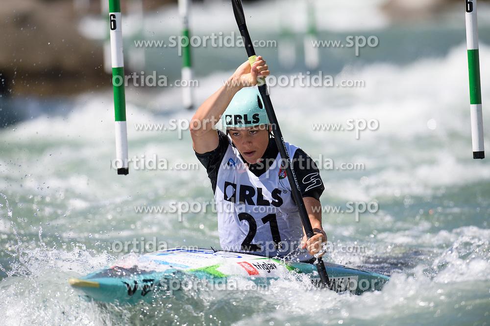 Ajda NOVAK of Slovenia during the Canoe Single (WK1) Womens Semi Final race of 2019 ICF Canoe Slalom World Cup 4, on June 28, 2019 in Tacen, Ljubljana, Slovenia. Photo by Sasa Pahic Szabo / Sportida