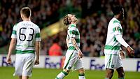 01/10/15 UEFA EUROPA LEAGUE GROUP STAGE<br /> CELTIC V FENERBAHCE<br /> CELTIC PARK - GLASGOW<br /> Celtic's Stefan Johansen looks to the sky.