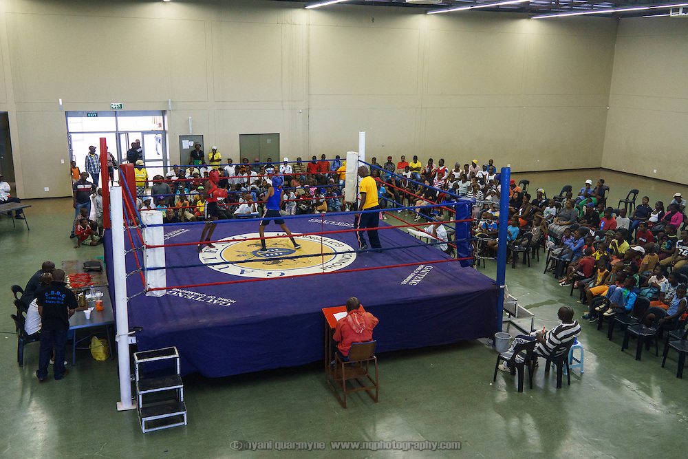 An amateur boxing tournament in Cosmo City, a large low-income housing development 40 minutes north of Johannesburg, South Africa.