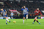 Diego Rico (21) of AFC Bournemouth shoots at goal during the Premier League match between Bournemouth and Brighton and Hove Albion at the Vitality Stadium, Bournemouth, England on 21 January 2020.