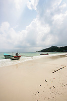 Motorboats on beach; Koh Pha Ngan; Thailand