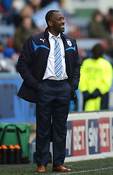 Huddersfield Town Manager, Chris Powell looks on - Photo mandatory by-line: Richard Martin-Roberts/JMP - Mobile: 07966 386802 - 21/03/2015 - SPORT - Football - Huddersfield - John Smith's Stadium - Huddersfield Town v Fulham - Sky Bet Championship