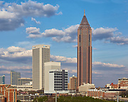 View of the AT&T and Bank of America buildings in midtown Atlanta