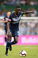 SYDNEY, AUSTRALIA - APRIL 06: Melbourne Victory defender Thomas Deng (14) kicks the ball at round 24 of the Hyundai A-League Soccer between Sydney FC and Melbourne Victory on April 06, 2019, at The Sydney Cricket Ground in Sydney, Australia. (Photo by Speed Media/Icon Sportswire)