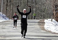 Mamakating, New York -  Runners compete in the Wurtsboro 30K road race on March 20, 2011.