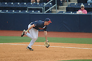 Ole Miss' Will Allen (30) records an out vs. Lipscomb at Oxford-University Stadium in Oxford, Miss. on Saturday, March 9, 2013. Ole Miss won 8-5. The win was the 486th for Mike Bianco as the Rebel head coach, making him the university's all time winningest baseball coach.