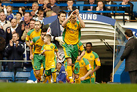 Photo: Leigh Quinnell.<br /> Chelsea v Norwich City. The FA Cup. 17/02/2007.<br /> Norwich players run onto the pitch at Stamford Bridge.