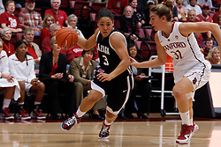 Nov 13, 2011; Stanford CA, USA;  Gonzaga Bulldogs guard Haiden Palmer (3) is defended by Stanford Cardinal guard Toni Kokenis (31) during the first half at Maples Pavilion.  Stanford defeated Gonzaga 76-61. Mandatory Credit: Jason O. Watson-US PRESSWIRE