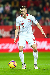 November 15, 2018 - Gdansk, Poland - Tomasz Kedziora of Poland during the international friendly soccer match between Poland and Czech Republic at Energa Stadium in Gdansk, Poland on 15 November 2018. (Credit Image: © Foto Olimpik/NurPhoto via ZUMA Press)