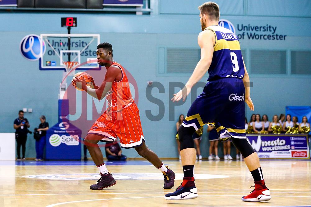 Daniel Edozie of Bristol Flyers - Mandatory by-line: Robbie Stephenson/JMP - 05/10/2018 - BASKETBALL - University of Worcester Arena - Worcester, England - Bristol Flyers v Worcester Wolves - British Basketball League