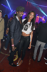 MASON SMILLIE and JOURDAN DUNN at Club DNKY in celebration of #DKNYARTWORKS held at The Firestation, Lambeth High Street, London SE1 on 12th June 2013.