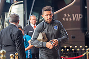 Gareth Evans (#26) of Portsmouth FC arrives for the EFL Sky Bet League 1 match between Sunderland and Portsmouth at the Stadium Of Light, Sunderland, England on 17 August 2019.
