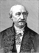 (Alexandre) Edmond Becquerel (1820-91) French physicist; son of Antoine Cesar Becquerel and father of (Antoine) Henri Becquerel; research on solar radiation and diamagnetism. Wood engraving