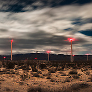 Hundreds of windmills dot the landscape in the southern portion of the Anza-Borrego desert near Ocotillo, CA.