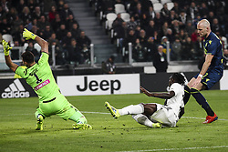 March 8, 2019 - Turin, Italy - Juventus forward Moise Kean (18) scores his goal during the Serie A football match n.27 JUVENTUS - UDINESE on 08/03/2019 at the Allianz Stadium in Turin, Italy. (Credit Image: © Matteo Bottanelli/NurPhoto via ZUMA Press)