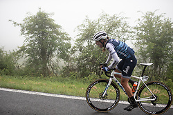 Tayler Wiles (USA) of Trek-Segafredo leads the race on Stage 3 of 2019 Emakumeen Bira, a 98 km road race from Murgia to Santa Teodosia, Spain on May 24, 2019. Photo by Balint Hamvas/velofocus.com