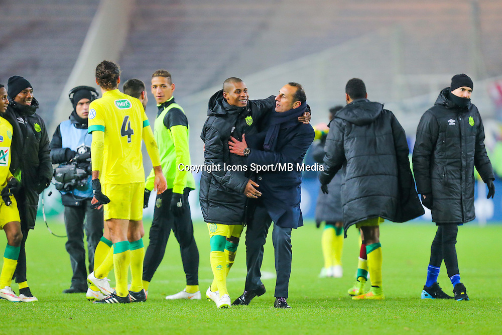 Joie Michel DER ZAKARIAN / Johan AUDEL  - 20.01.2015 - Nantes / Lyon  - Coupe de France 2014/2015<br /> Photo : Vincent Michel / Icon Sport
