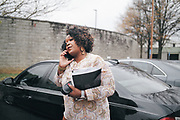 BIRMINGHAM, AL – DECEMBER 4, 2017: Birmingham City Councilor Sheila Tyson returns to her vehicle after helping eligible inmates at the Birmingham City Jail fill out voter applications. CREDIT: Bob Miller for The New York Times