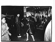 Nan Kempner leaving Bill Blass fashion show. N.Y. 1992 approx. © Copyright Photograph by Dafydd Jones 66 Stockwell Park Rd. London SW9 0DA Tel 020 7733 0108 www.dafjones.com