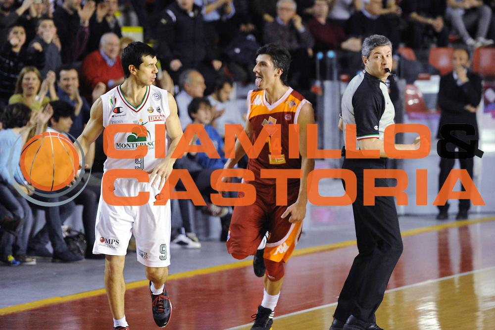 DESCRIZIONE : Roma Lega A 2011-12 Acea Roma Montepaschi Siena <br /> GIOCATORE : nemanja gordic<br /> CATEGORIA :  esultanza curiosita<br /> SQUADRA :  Acea Roma Montepaschi Siena<br /> EVENTO : Campionato Lega A 2011-2012<br /> GARA :  Acea Roma Montepaschi Siena<br /> DATA : 26/02/2012<br /> SPORT : Pallacanestro<br /> AUTORE : Agenzia Ciamillo-Castoria/GiulioCiamillo<br /> Galleria : Lega Basket A 2011-2012 <br /> Fotonotizia :  Romna Lega A 2011-12 Acea Roma Montepaschi Siena<br /> Predefinita :