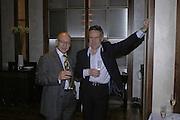 Reuben Berg and Stephen Bayley, Charles Finch and Weidenfeld and Nicolson host a party to celebrate the publication of 'Dancing Into Battle' by Nick Foulkes. The Westbury Hotel, Conduit St. London. 14 December 2006. ONE TIME USE ONLY - DO NOT ARCHIVE  © Copyright Photograph by Dafydd Jones 248 CLAPHAM PARK RD. LONDON SW90PZ.  Tel 020 7733 0108 www.dafjones.com