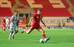 LLANELLI, WALES - Wednesday, August 15, 2012: Wales' Sam Ricketts in action against Bosnia-Herzegovina during the international friendly match at Parc y Scarlets. (Pic by David Rawcliffe/Propaganda)