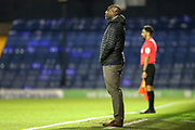 Southend United manager Sol Campbell and Assistant Referee Bhupinder Gill during the EFL Trophy match between Southend United and AFC Wimbledon at Roots Hall, Southend, England on 13 November 2019.