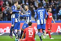 Fotball<br /> Tyskland<br /> Foto: Witters/Digitalsport<br /> NORWAY ONLY<br /> <br /> 1:0 Jubel v.l. Mitchell Weiser, Per Ciljan Skjelbred, Torschuetze Vedad Ibisevic (Berlin)<br /> Berlin, 22.10.2016, Fussball, Bundesliga, Hertha BSC Berlin - 1. FC Köln