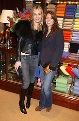 Left to right, KIM HERSOV and LAUREN BOOTH at a party at Ralph Lauren, Bond Street, London in support of the NSPCC's Full Stop campaign on 21st March 2006.<br />