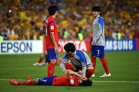 Fotball<br /> Asia Cup / Asiamesterskapet<br /> 31.01.2015<br /> Australia v Sør Korea 2:1 eeo<br /> Finale<br /> Foto: imago/Digitalsport<br /> NORWAY ONLY<br /> <br /> South Korea s Son Heung Min (front) reacts after the final match against Australia at the 2015 AFC Asian Cup in Sydney, Australia, Jan. 31, 2015. South Korea lost 1-2.