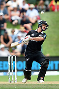 Colin de Grandhomme of the Black Caps during the ANZ One Day International match between the Black Caps and Bangladesh, played at the University Oval, Dunedin, New Zealand, on February 20, 2019. Copyright Image: Joe Allison / www.Photosport.nz
