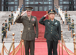 August 15, 2017 - Beijing, China - Marine Corps Gen. JOSEPH F. DUNFORD JR., chairman of the Joint Chiefs of Staff, participates in a welcome ceremony with his Chinese counterpart Gen. FANG FENGHUI at the Ba Yi, . (Credit Image: