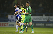 Sheffield Wednesday goalkeeper Keiren Westwood (1) during the Sky Bet Championship match between Sheffield Wednesday and Brighton and Hove Albion at Hillsborough, Sheffield, England on 3 November 2015.
