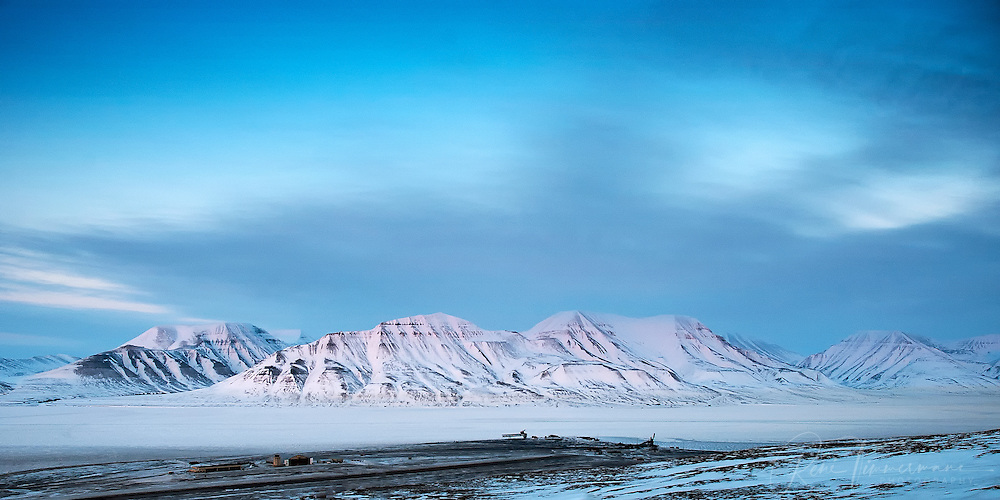 Airport of Longyearbyen at Svalbard.
