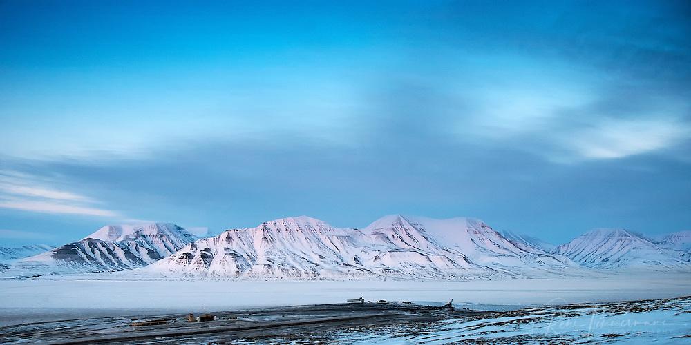 Airport of Longyearbyen at Svalbard.