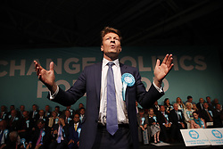 © Licensed to London News Pictures. 21/05/2019. London, UK. Brexit Party Chairman Richard Tice speaks ahead of leader Nigel Farage at a European Election rally at Olympia in London. Voters are due to go to the polls in two days. Photo credit: Peter Macdiarmid/LNP