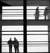 Fairyhouse Racing, 1st January 2016<br /> A general view of punters on the footbridge at Fairyhouse<br /> Photo: David Mullen /www.cyberimages.net / 2016