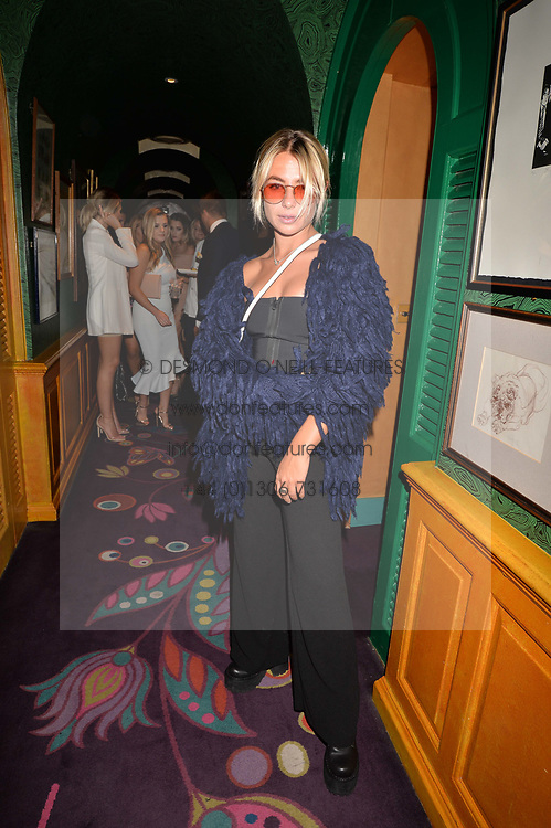 Jess Woodley at the  Annabel's Bright Young Things Party at Annabel's, Berkeley SquareLondon England. 8 June 2017.<br /> Photo by Dominic O'Neill/SilverHub 0203 174 1069 sales@silverhubmedia.com