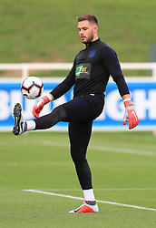 England's Jack Butland during the training session at St Georges' Park, Burton.